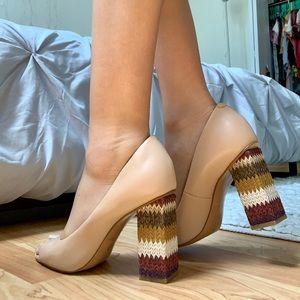 Katy Perry Chunky Peep Toe Heels